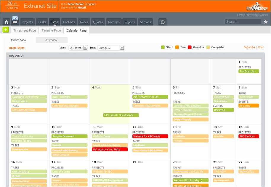 Workflow Calendar Template Proworkflow Review Automating Your Project Workflow