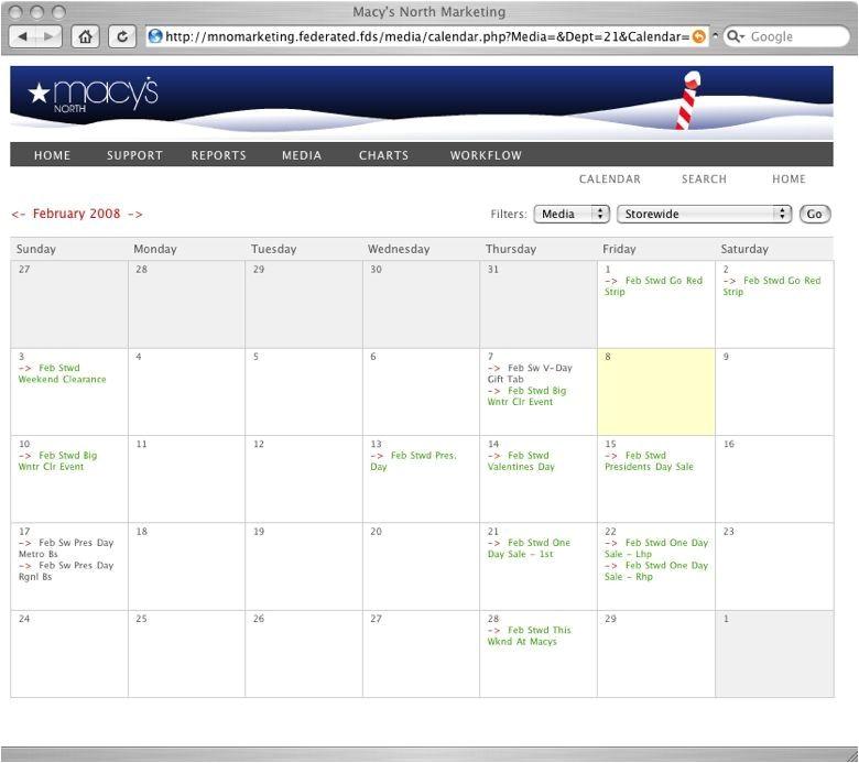 workflow calendar