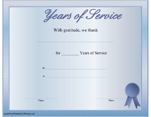 post 30 years of service certificate 480621