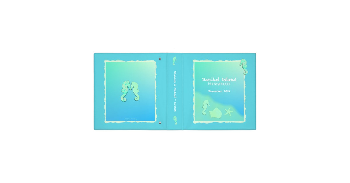 aqua seahorse 2 inch template binder 127539257237533371