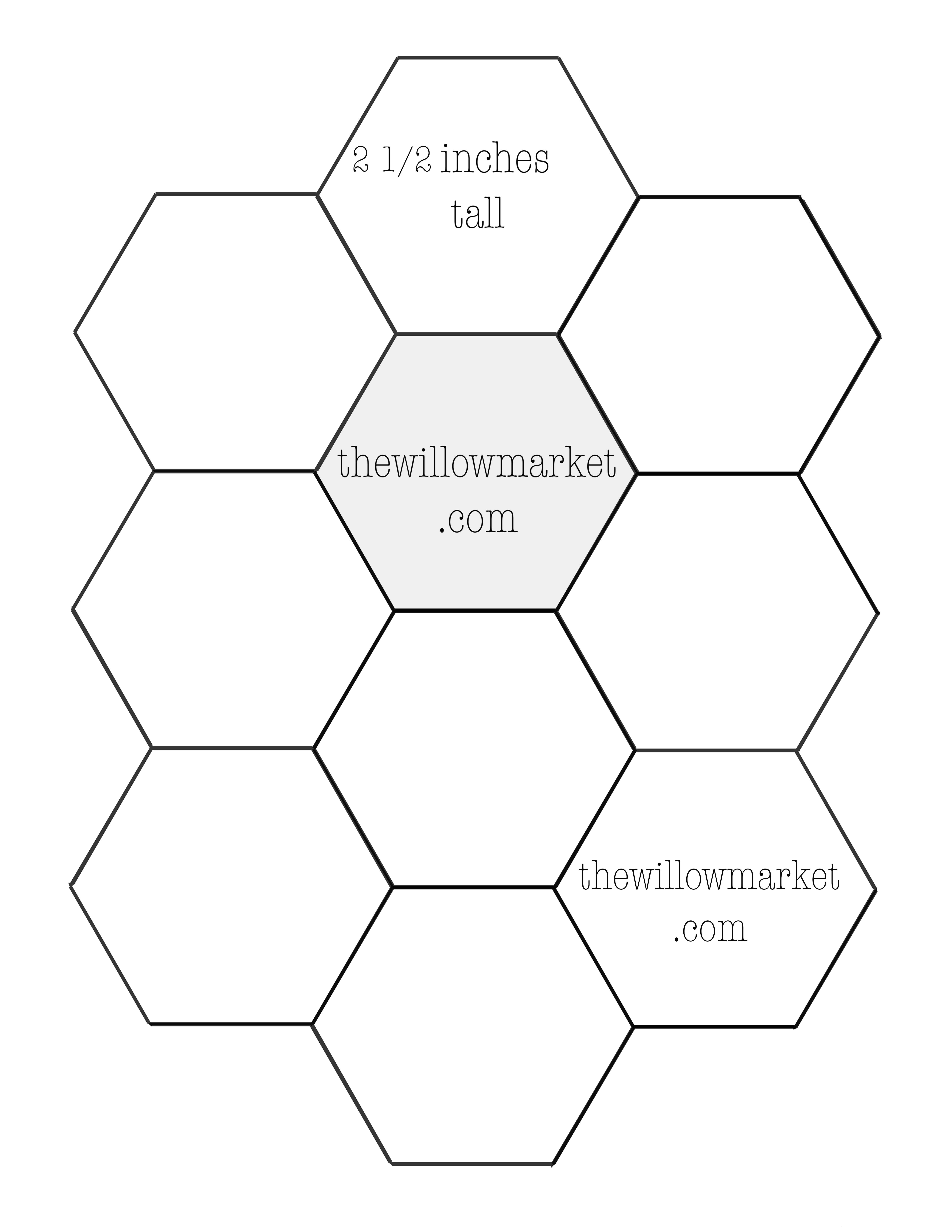 12 images of printable 12 inch hexagon template download 22