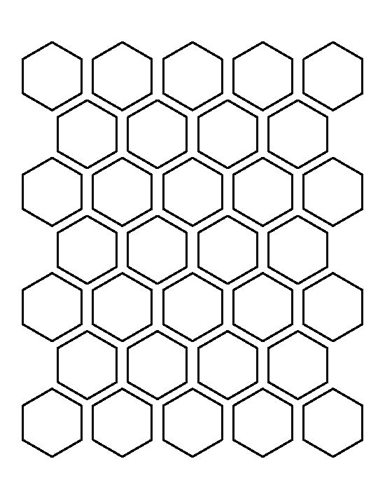 1.5 Inch Hexagon Template Hexagons Hexagon Pattern and Templates On Pinterest