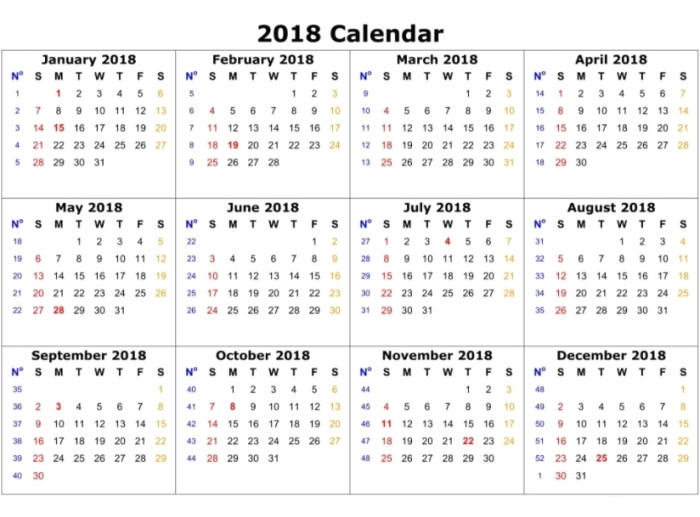 11x17 one page blank annual calendar dt5