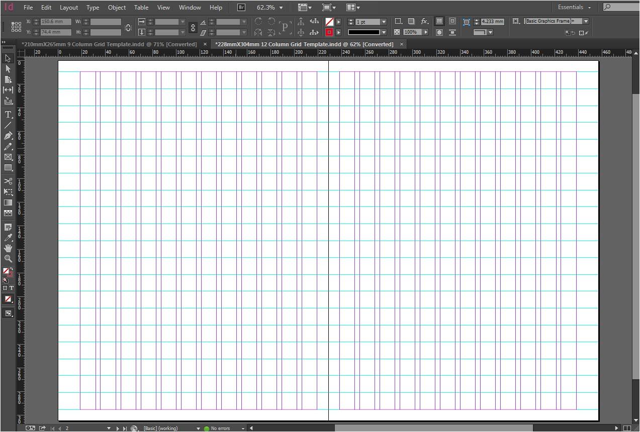 free 228mmx304mm 12 column grid template