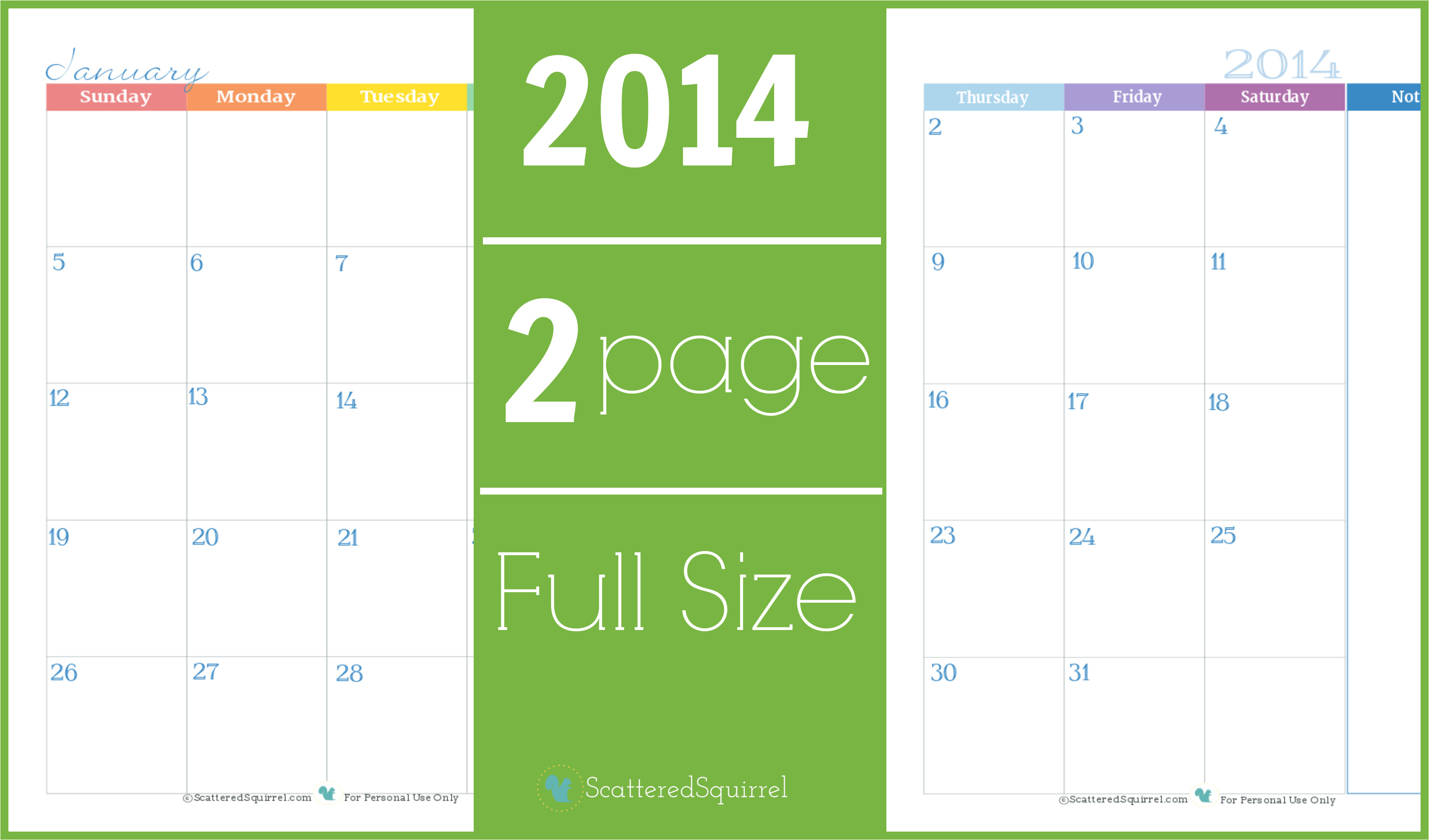 post 2 month per page full size calendar printable 2016 107813