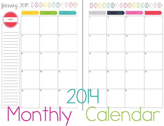 post 2 page monthly calendar printable 2016 335342
