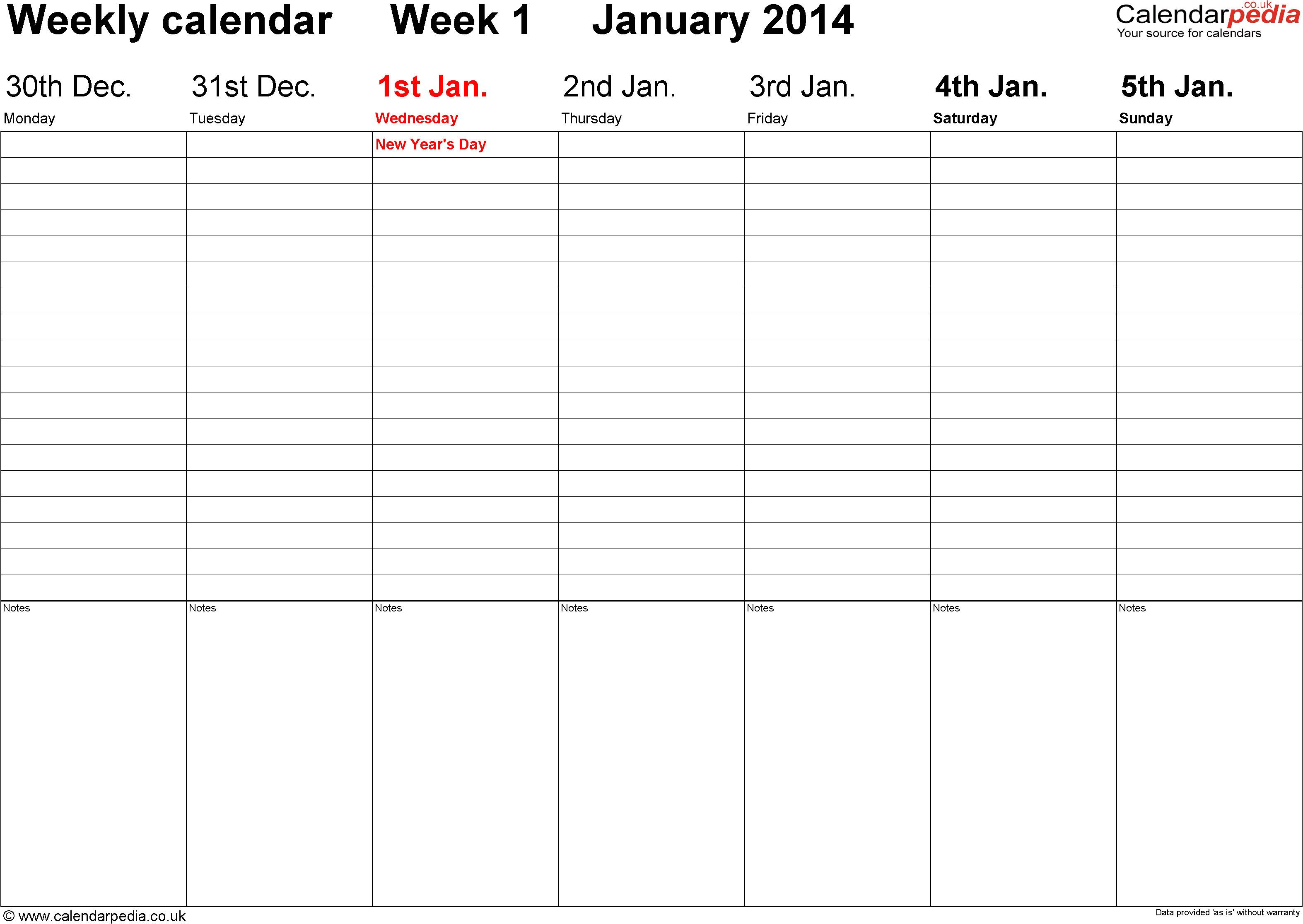 post two week calendar 2014 printable 108009
