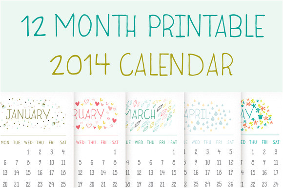 13908 printable 2014 calendar