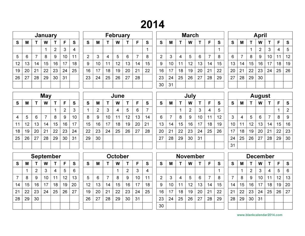 post 2014 annual calendar template 382758