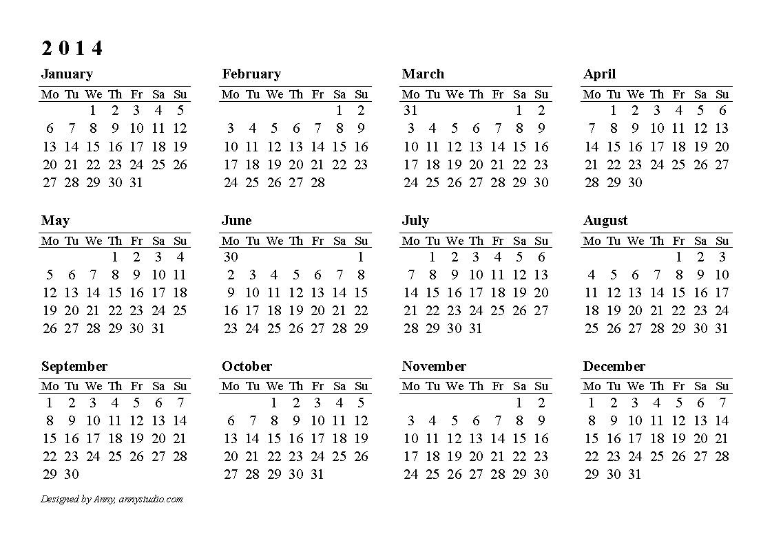 2014 calendar download new 2014 calendars