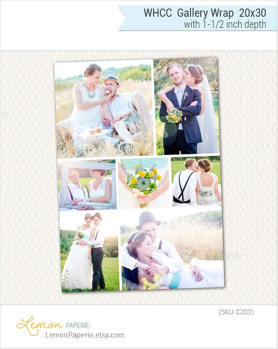 20x30 gallery wrap canvas template for