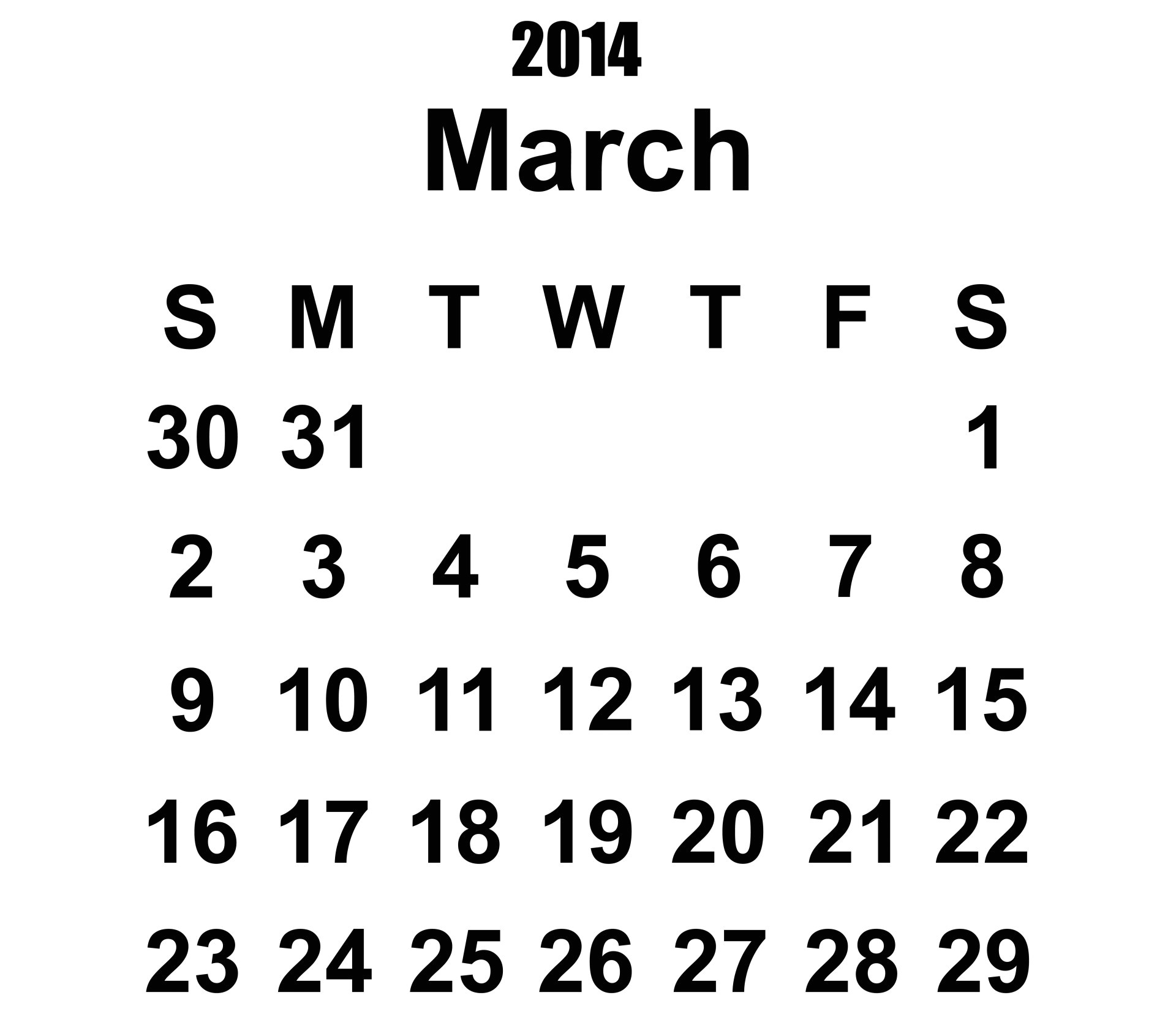 view image image 41280 picture 2014 calendar march template