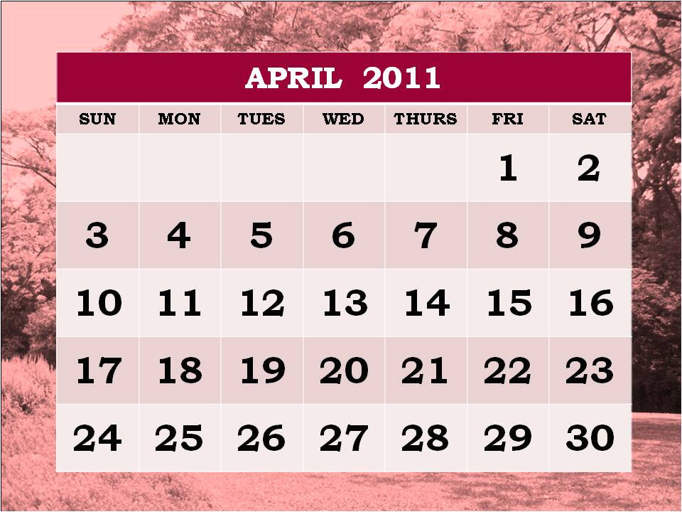 may calendar 2011 with holidays