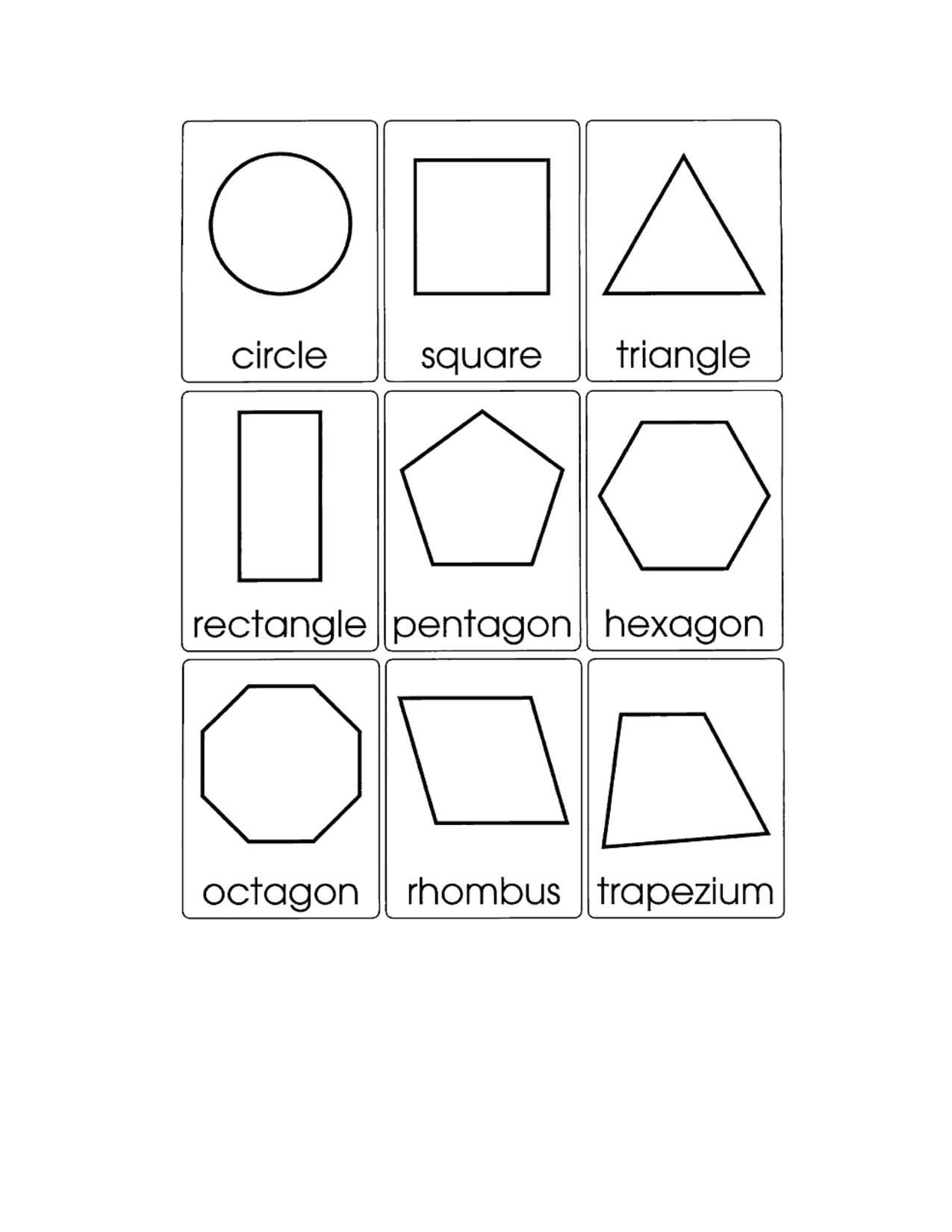2d Shape Templates 15 Best Images Of Worksheets 3d Shapes Printable 3d