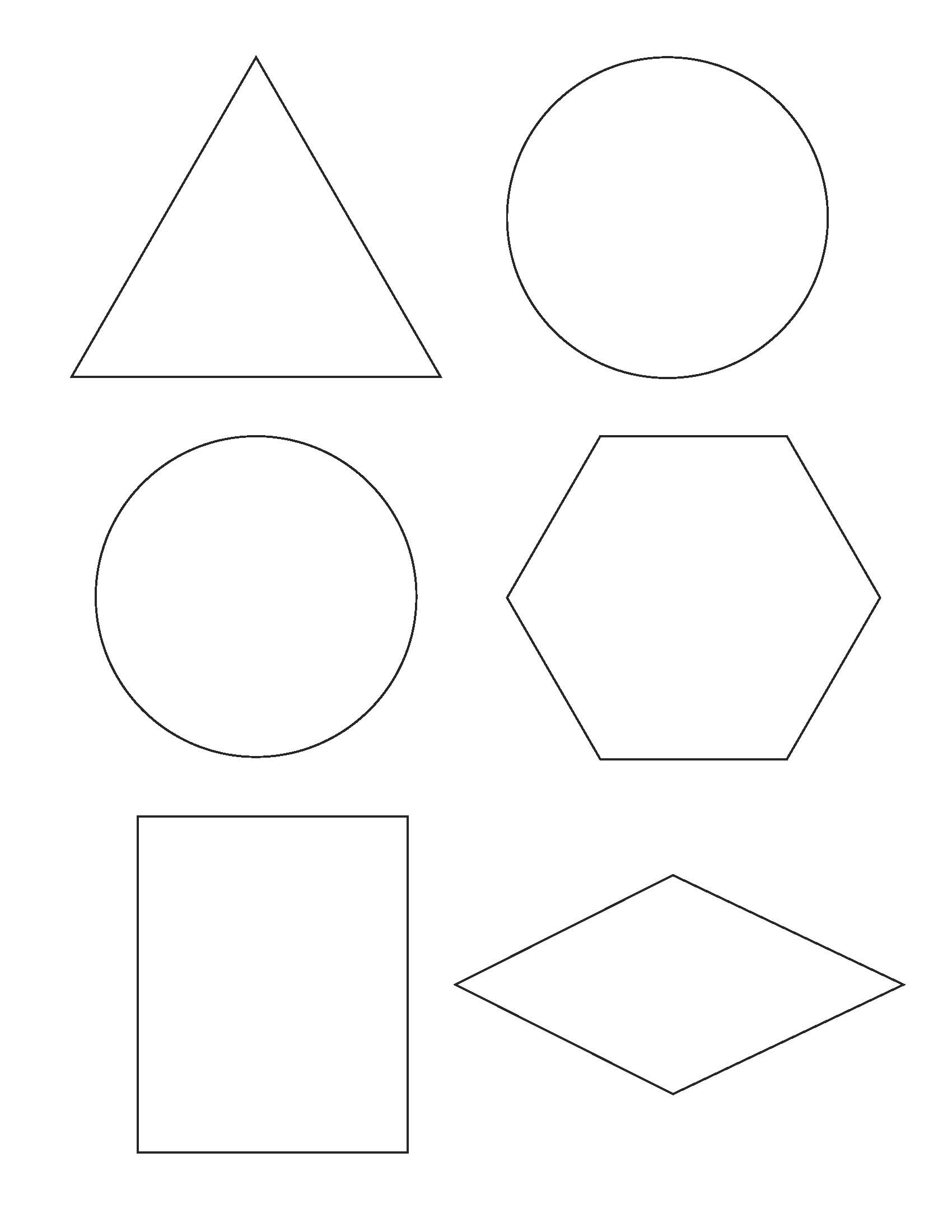 free printable shapes templates 5250