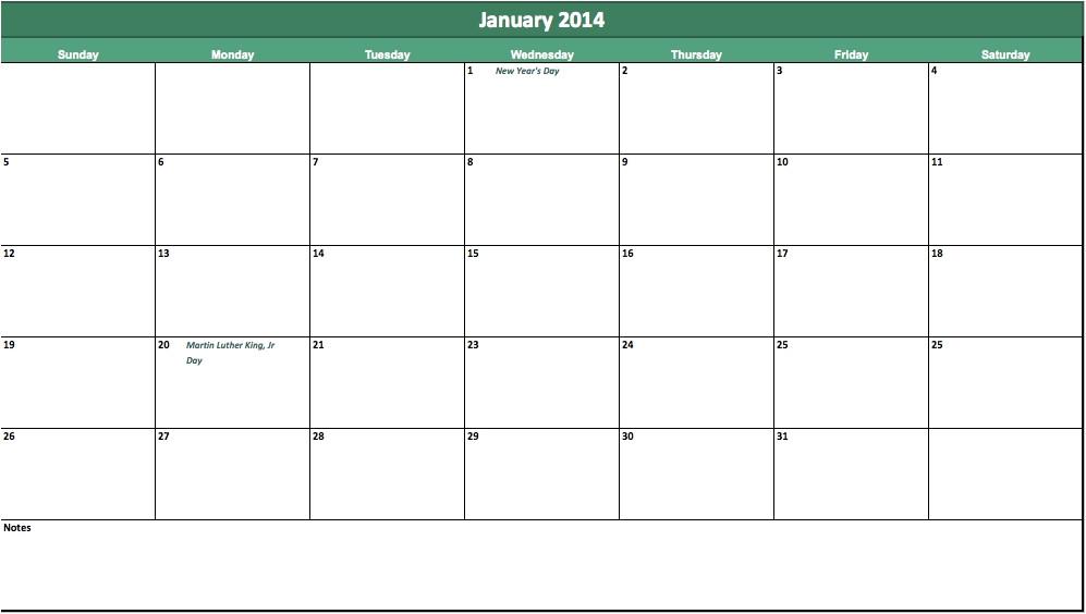 3 Month Calendar Template 2014 2014 Monthly Calendar Template Icebergcoworking