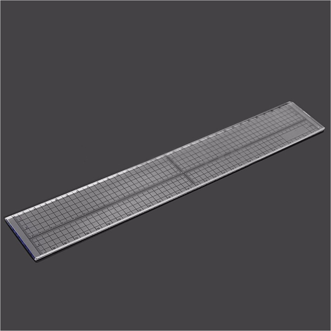 30cm Ruler Template 30cm Acrylic Steel Edge Patchwork Sewing Ruler Quilting