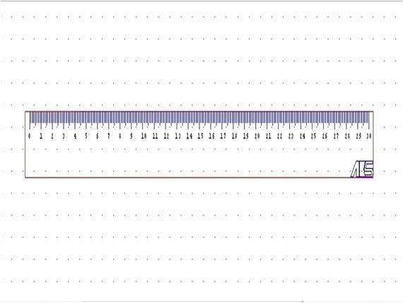 30cm ruler template