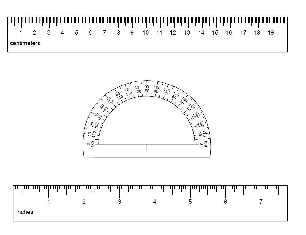 cm ruler template
