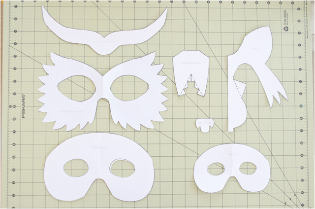 3d Animal Mask Templates Diy Cardboard Animal Masks for Halloween Project Nursery