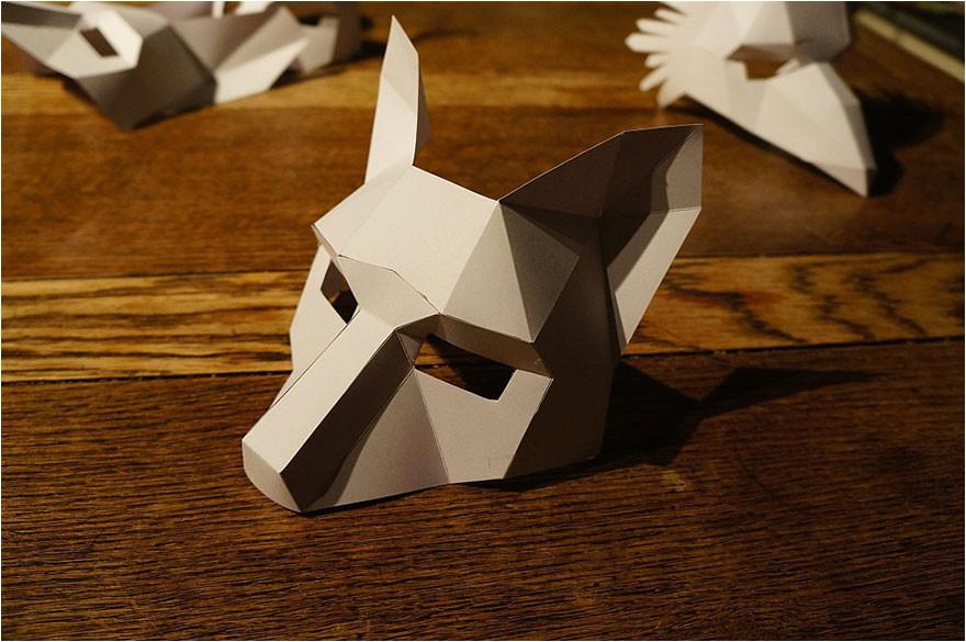 3d geometrical halloween masks steve wintercroft