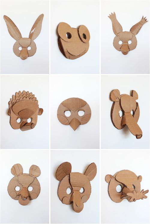 2 diy animals masks