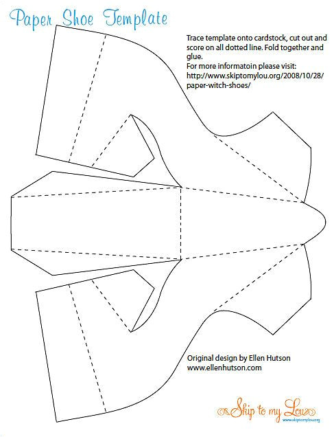3d Paper Shoe Template Paper High Heeled Shoe Template Page 1 Cardboard Art