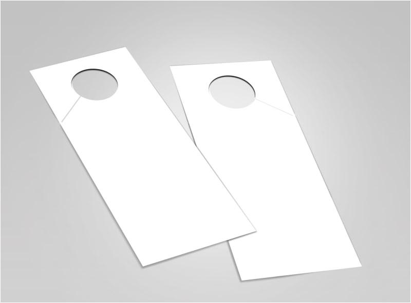 4.25 X 11 Door Hanger Template Blank Door Hanger Templates Mycreativeshop