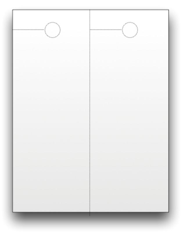 blank door hangers