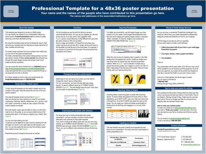 powerpoint poster template 48x36 powerpoint poster template 48x36 poster presentation template 48 x 96 pet land ideas