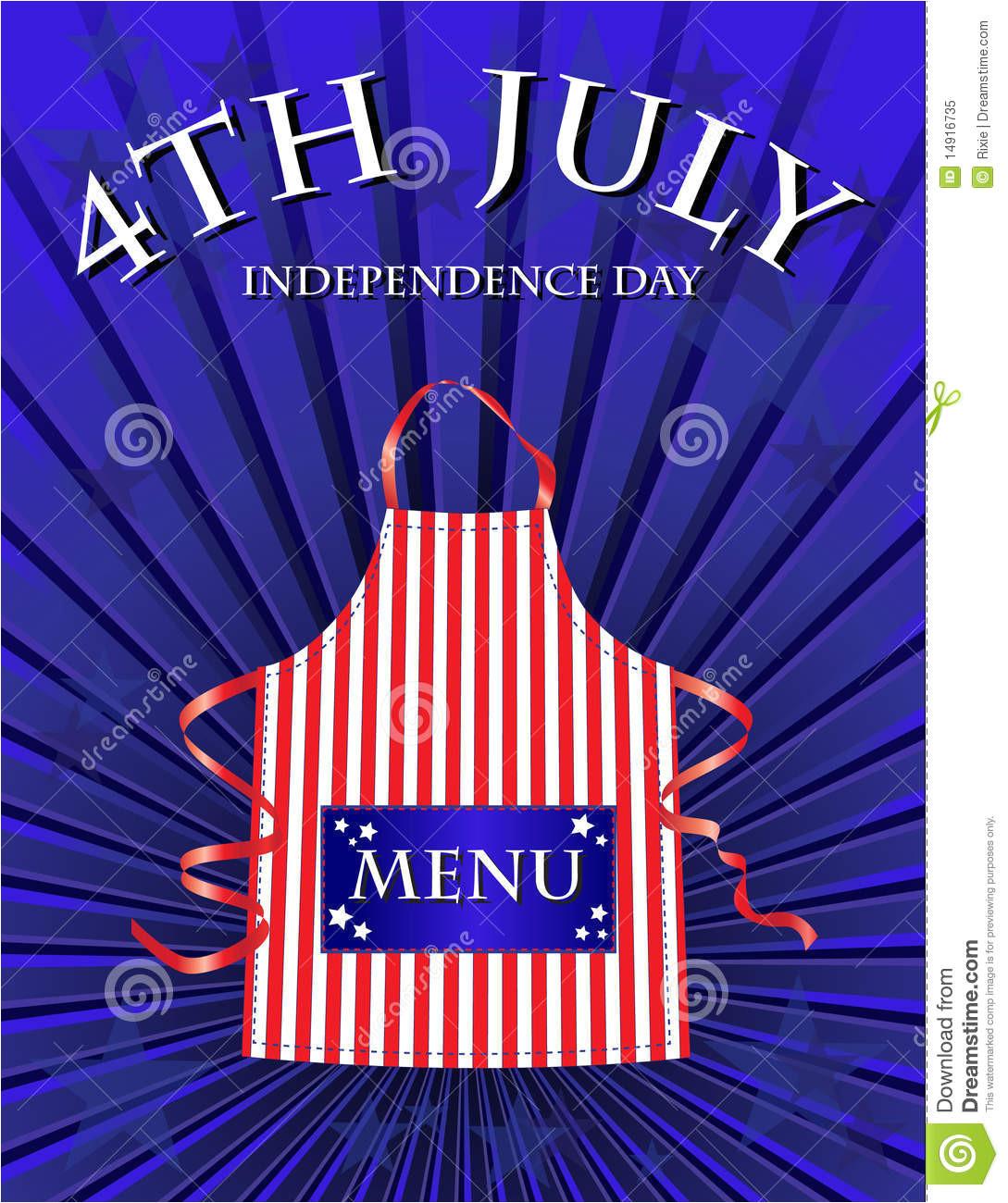royalty free stock photo 4th july menu image14916735