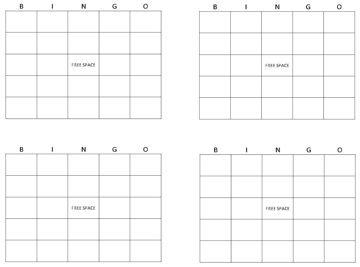 post 4x4 blank bingo cards printable 243274