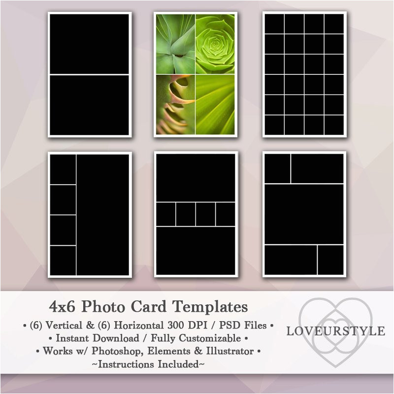 4×6 Photo Card Template Free 4×6 Photo Template Pack 12 Photo Card Templates Photo