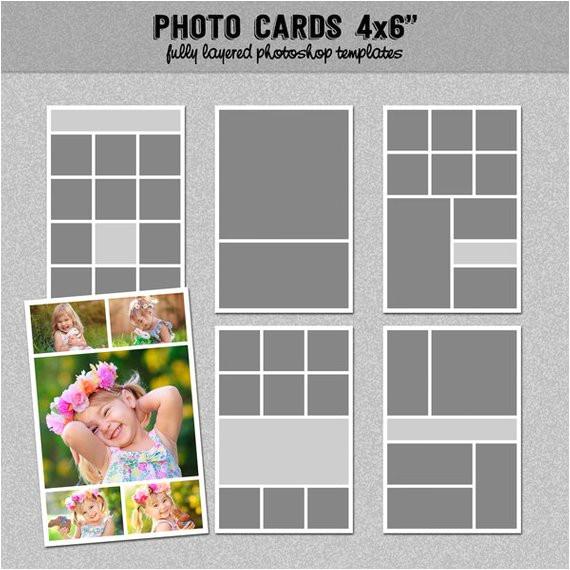 6 photo card templates 4x6 set 1