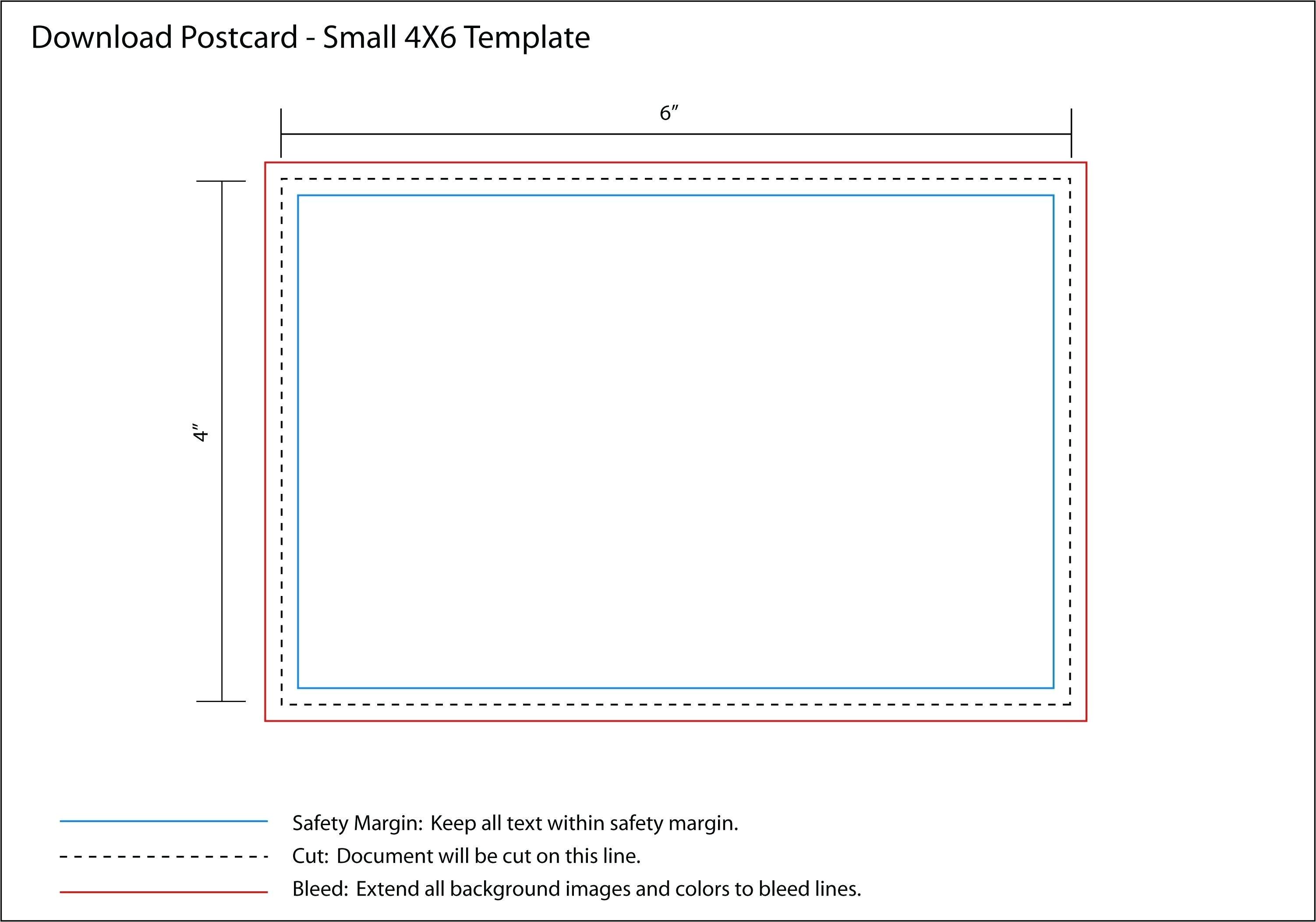 4x6 photo card template free