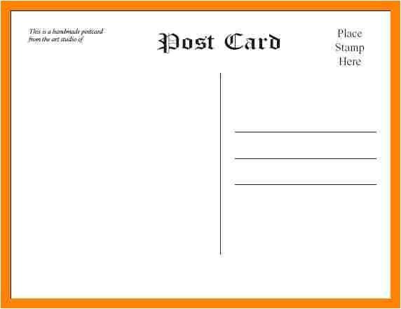 free postcard templates microsoft word