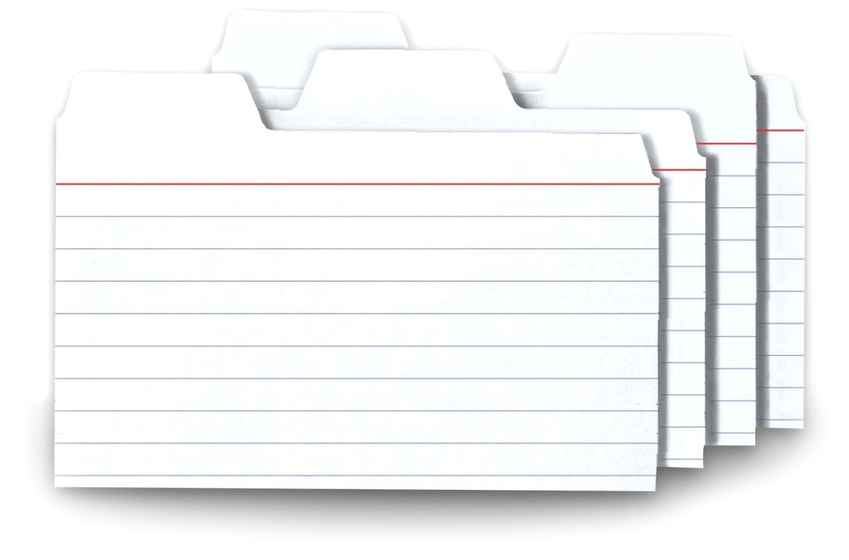 5 by 8 index card template