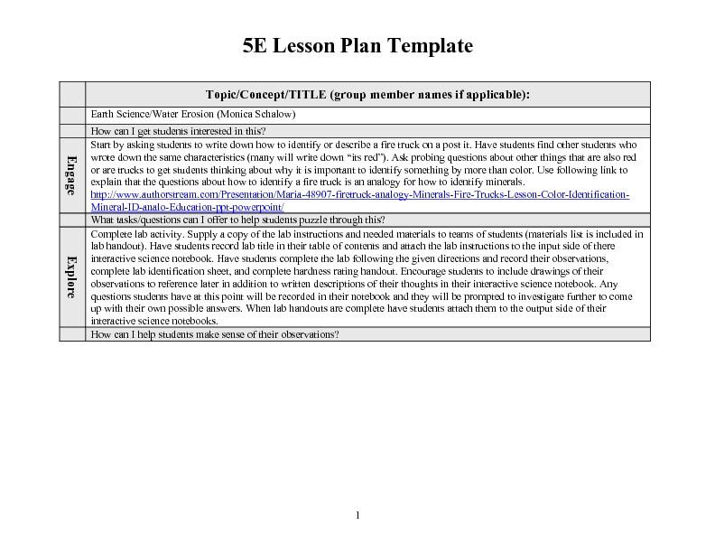 5e math lesson plan for 2nd grade