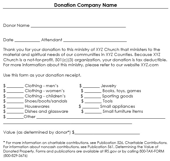 501 C 3 Donation Receipt Template 501 C 3 Donation Receipt form Templates Resume