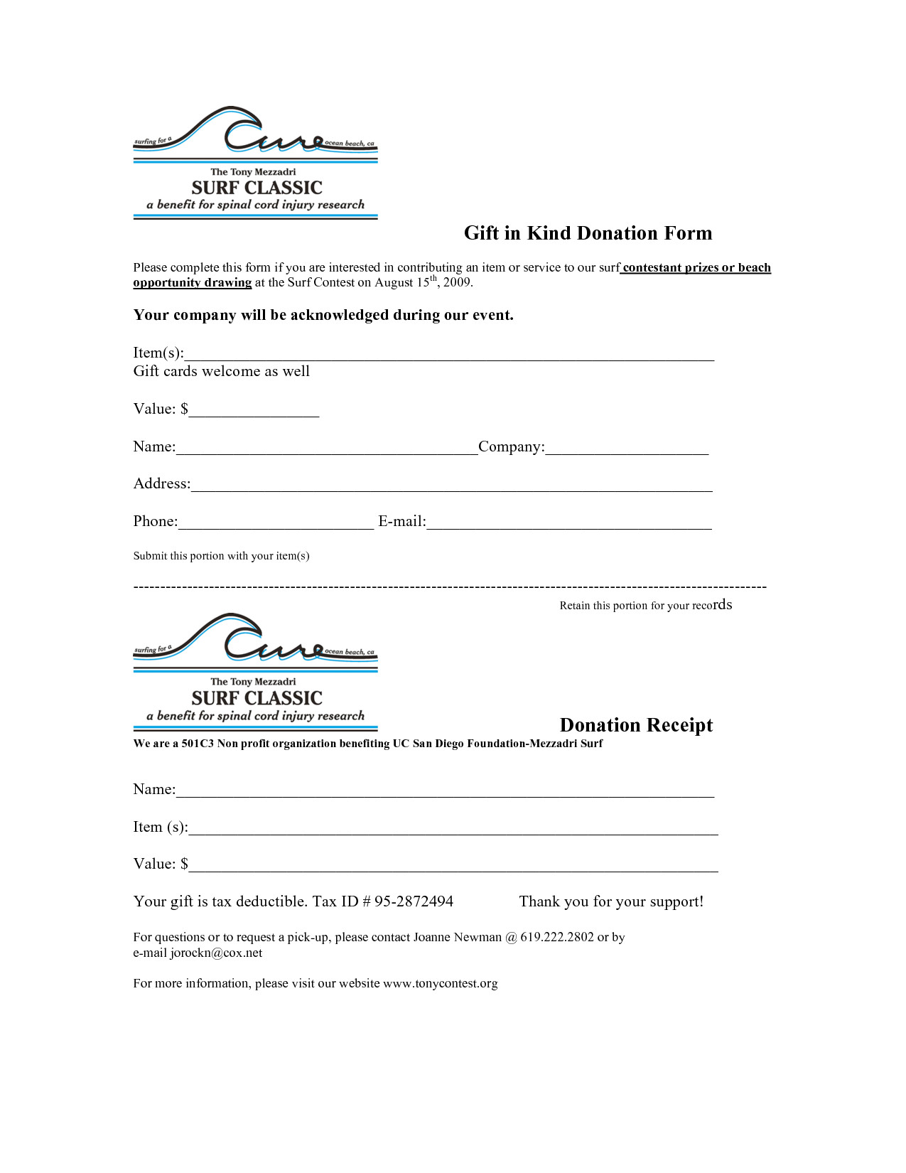 post 501c3 donation receipt template 99545
