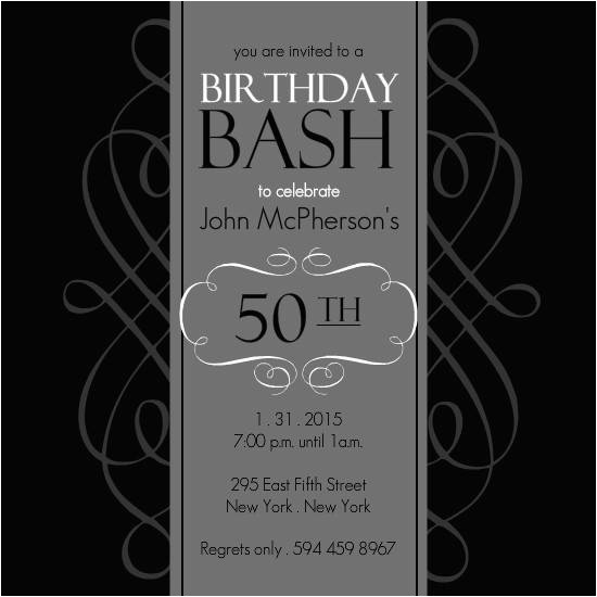 50th birthday invitation templates