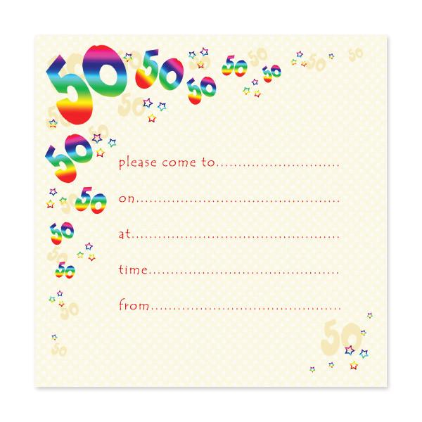 50th Birthday Invite Template Free Blank 50th Birthday Party Invitations Templates Drevio