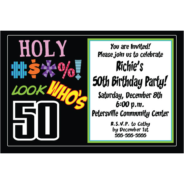 free printable 50th birthday invitations templates 3871