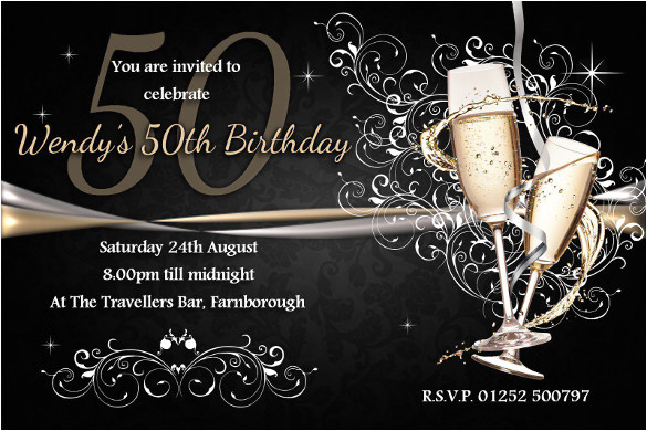 50th Birthday Party Invites Free Templates 45 50th Birthday Invitation Templates Free Sample