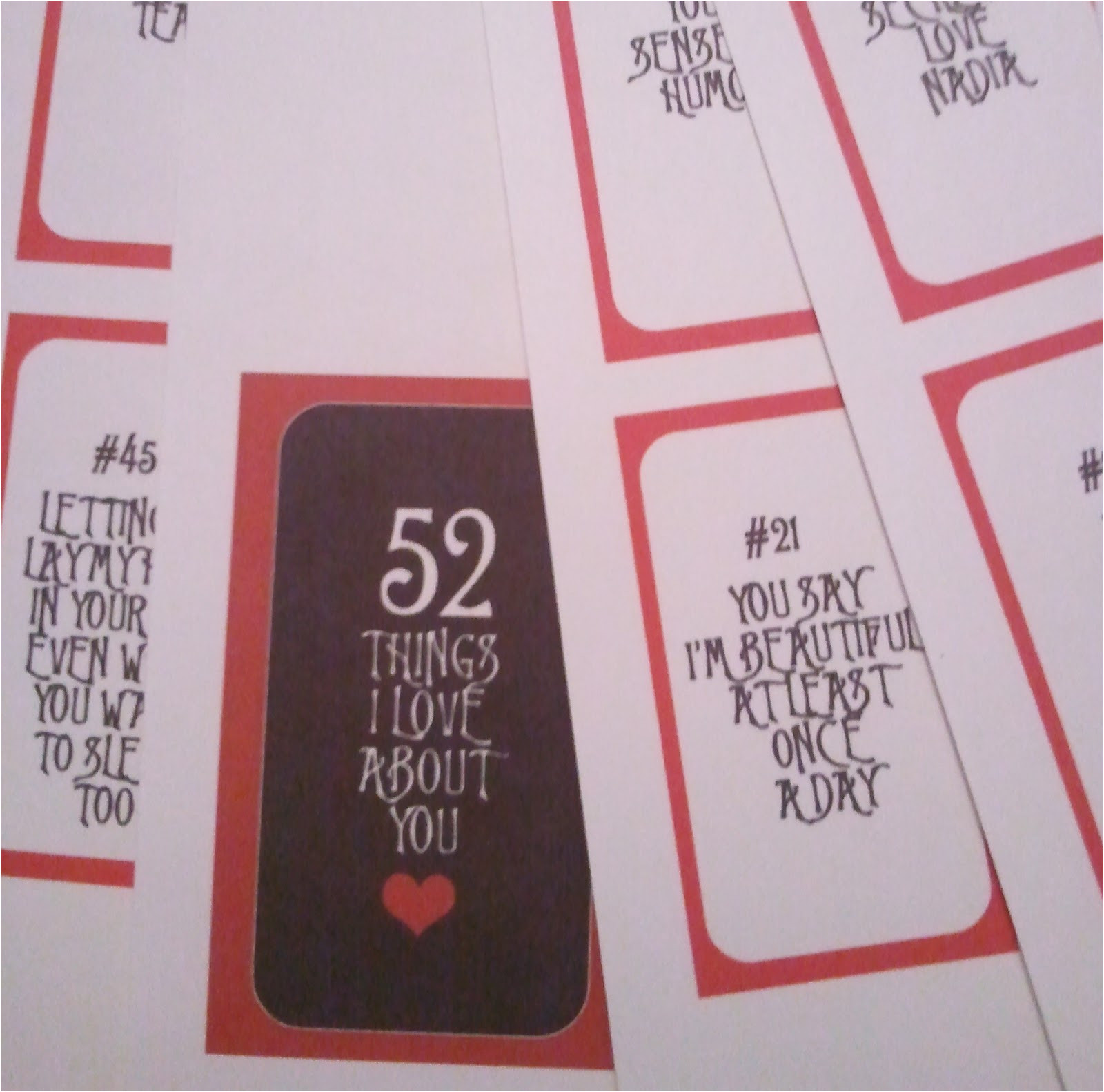 52 reasons why i love you cards templates free