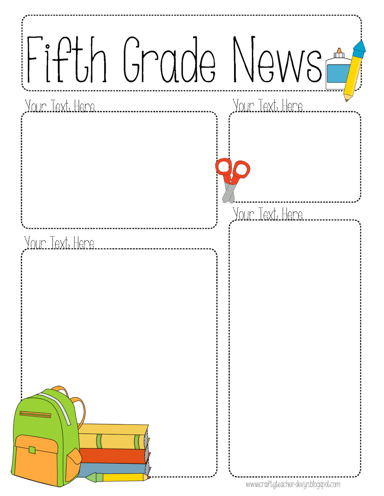 5th Grade Newsletter Template Completely Editable Newsletter for All Grades the
