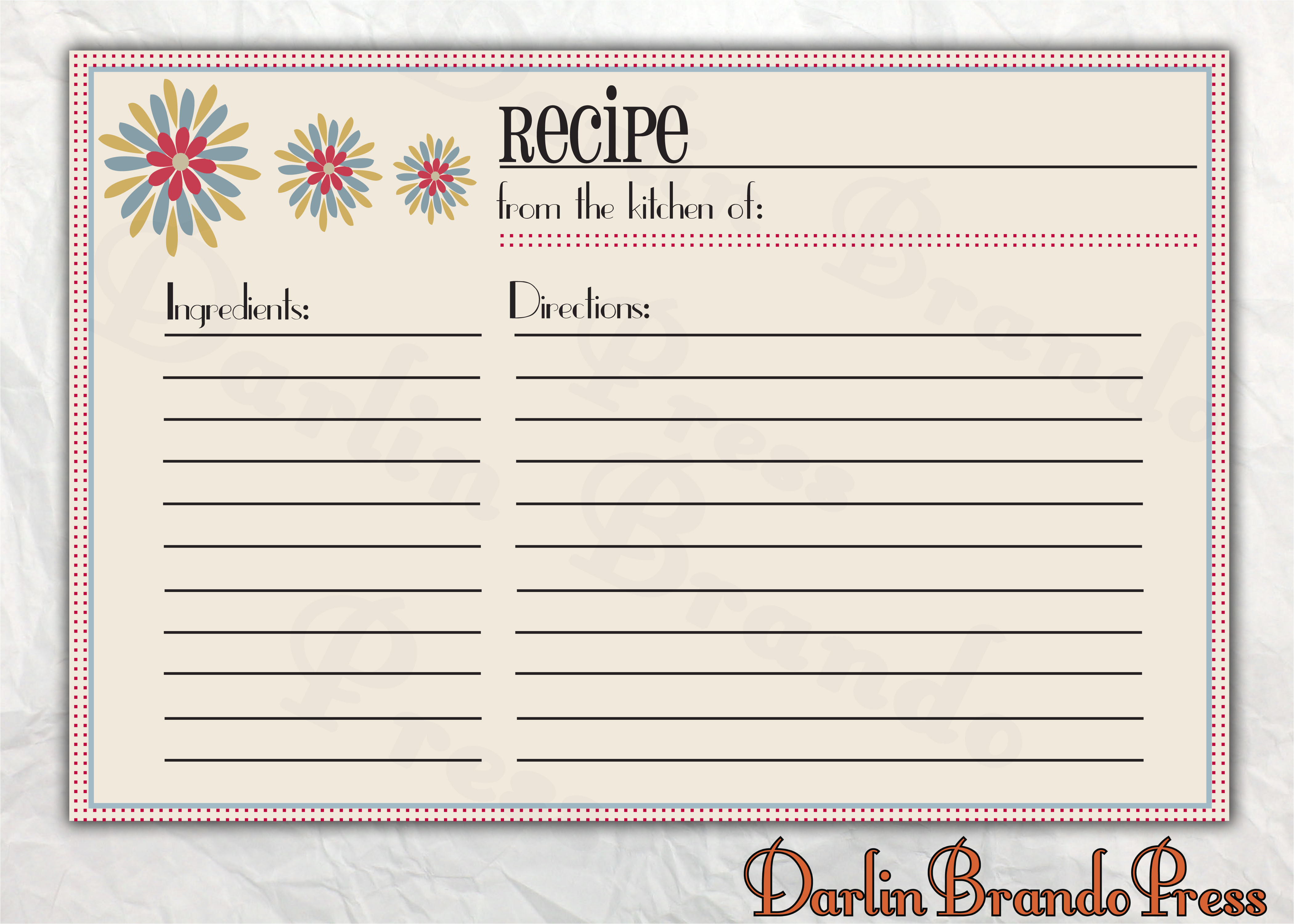 post customizable printable christmas recipe card template 361003
