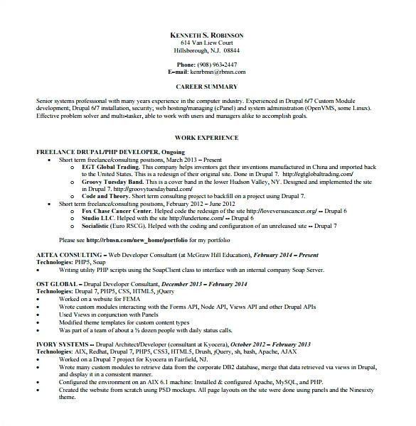 6 Months Experience Resume Sample In software Engineer 6 Month Experience Resume for software Developer Www
