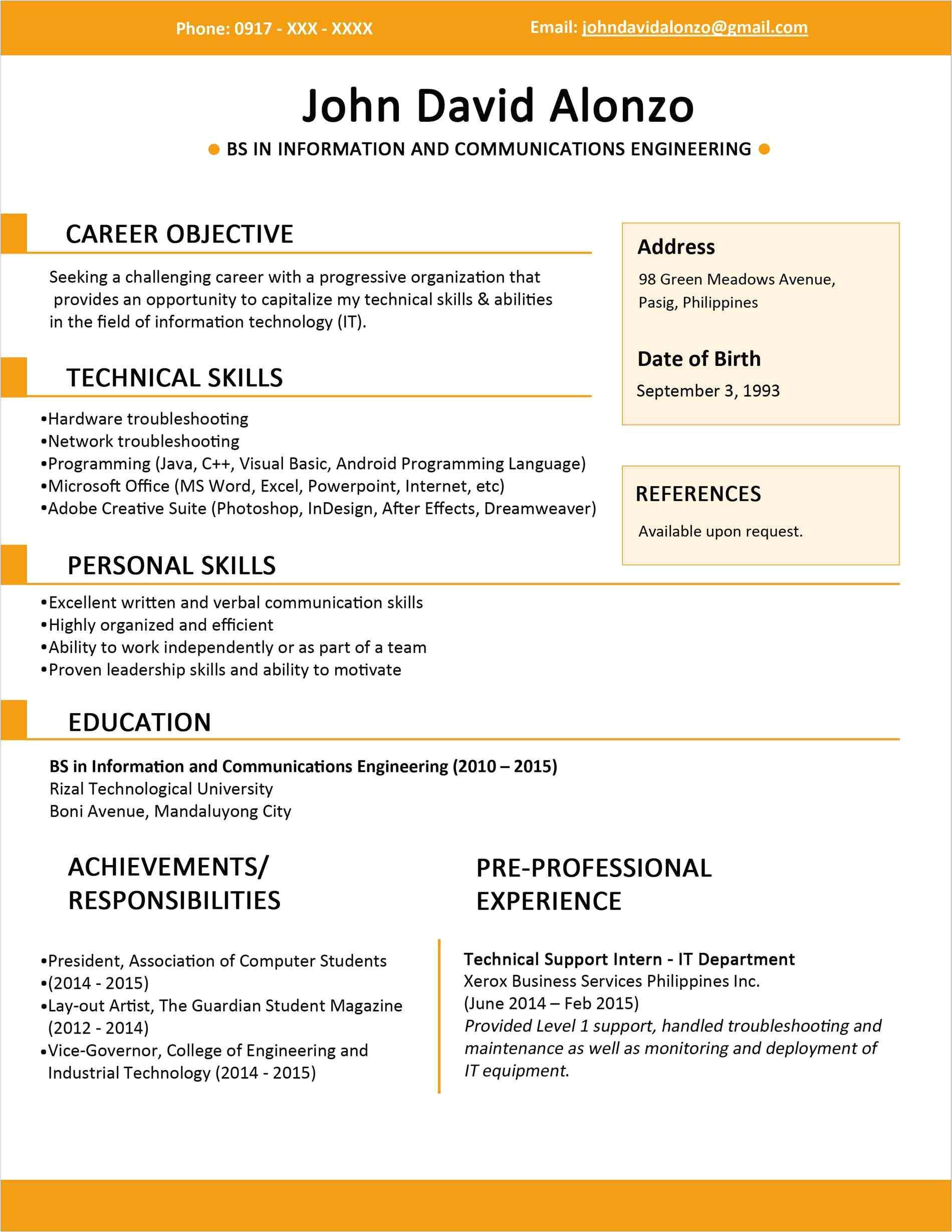 6 months experience resume sample in software engineer awesome 100 resume format for freshers engineers