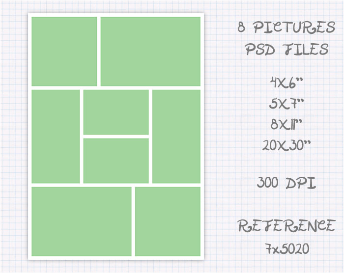 storyboard photo collage template 6x4